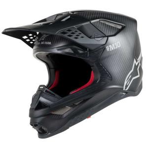 Alpinestars Crosshelm Supertech S-M10 Solid Black Matt/Carbon