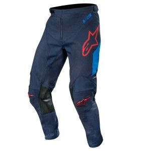 Alpinestars Crossbroek Racer Tech Compass Dark Navy/Mid Blue/Burgundy