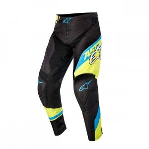 Alpinestars Kinder Broek Racer Supermatic Black/Blue/Fluor Yellow