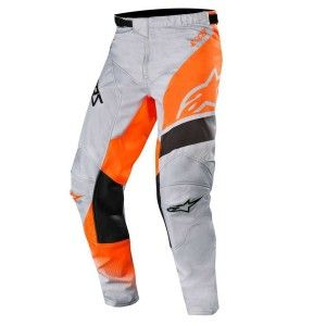 Alpinestars Kinder Crossbroek Racer Supermatic Light Gray/Fluor Orange/Black