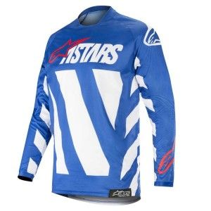 Alpinestars Crossshirt Racer Braap Blue/White/Red