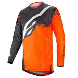 Alpinestars Crossshirt Techstar Factory Anthracite/Fluor Orange
