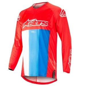 Alpinestars Crossshirt Techstar Venom Red/White/Blue