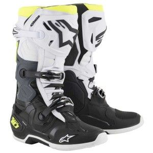 Alpinestars Crosslaarzen Tech 10 Black/White/Fluor Yellow (model 2019)