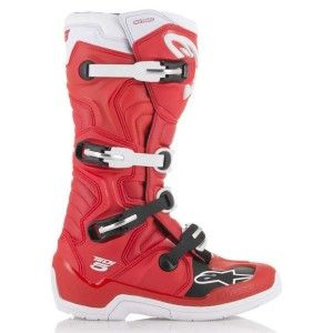 Alpinestars Crosslaarzen Tech 5 Fluor Red/White