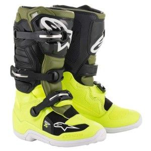 Alpinestars Kinder Crosslaarzen Tech 7S Fluor Yellow/Military Green/Black