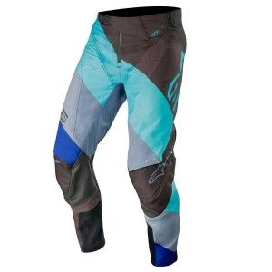 Alpinestars Crossbroek Techstar Venom Black/Turquoise/Blue
