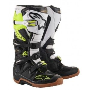 Alpinestars Crosslaarzen Tech 7 LTD Seatle Black/White/Fluor Yellow