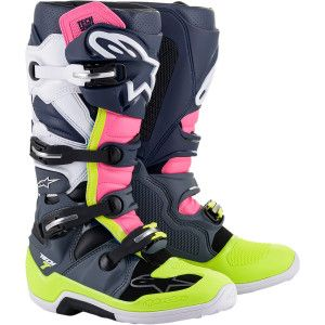 Alpinestars Crosslaarzen Tech 7 Pink/Fluo Yellow