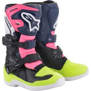 Alpinestars Youth Crosslaarzen Tech 3S Pink/Fluo Yellow