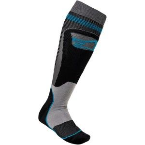 Alpinestars MX Plus Crosssokken Black/Cyan