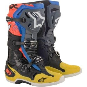 Alpinestars Crosslaarzen Tech 10 Yellow/Blue/Red Fluor