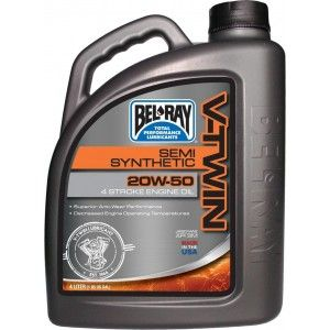 Bel-Ray V-Twin Semi-Synthetic Motor Oil 20W-50 4 Liter