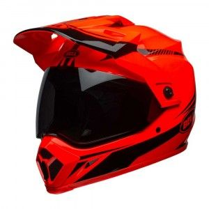 Bell Crosshelm/Endurohelm MX-9 Adventure MIPS® Gloss Hi-Viz Orange/Black Torch