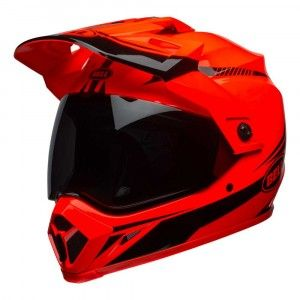 Bell Crosshelm/Endurohelm MX-9 Adventure MIPS® Gloss Hi-Viz Orange/Black Torch-M