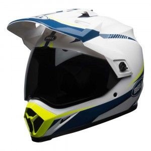 Bell Crosshelm/Endurohelm MX-9 Adventure MIPS® Gloss White/Blue/Yellow Torch
