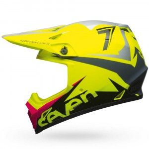 Bell Crosshelm MX-9 MIPS® Seven Ignite Gloss Fluor Yellow