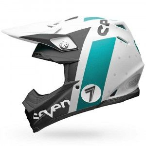 Bell Crosshelm Moto9 Flex Seven Flight Matte Aqua