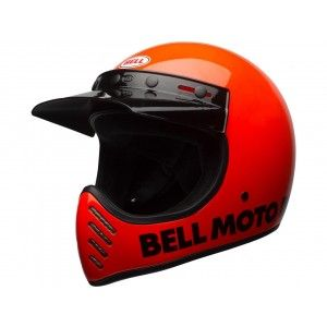 Bell Moto-3 Retro Crosshelm Classic Neon Orange