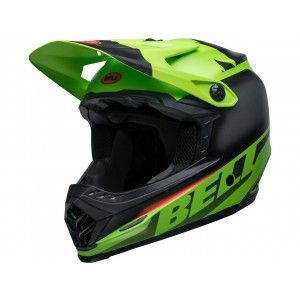 Bell Moto-9 MIPS Youth Crosshelm Glory Green/Black/Infrared