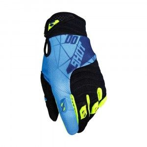 Shot Crosshandschoenen Contact Infinite Blue/Neon Yellow