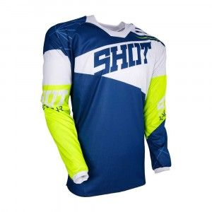 Shot Crossshirt Contact Infinite Blue/White/Neon Yellow