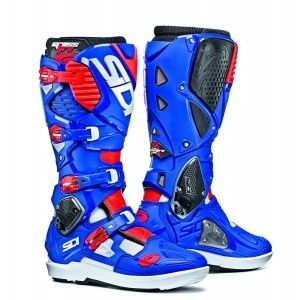 Sidi Crosslaarzen Crossfire 3 SRS White/Blue/Red Fluo