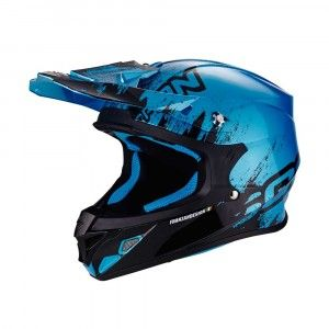 Scorpion Crosshelm VX-21 Air Mudirt Black/Sky Blue