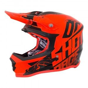 Shot Crosshelm Furious Venom Neon Orange Gloss
