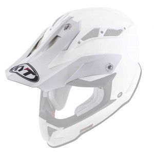 Kyt Strike helmklep-Kyt Crosshelm Strike Eagle White