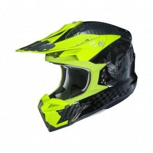 HJC I50 Crosshelm Artax Fluor Yellow