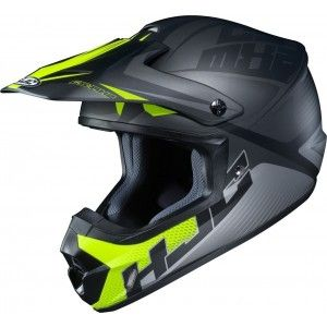 HJC Kinder Crosshelm CL-YX 2 Ellusion Black/Fluor Yellow