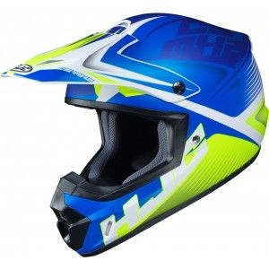 HJC Kinder Crosshelm CL-YX 2 Ellusion Blue/Yellow