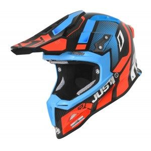 Just1 J12 Crosshelm Vector Orange/Blue/Carbon