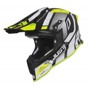 Just1 J12 Crosshelm Vector Matt White/Yellow Fluo/Carbon