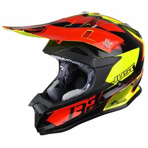 Just1 Crosshelm J32 Pro Kick Black/Red/Yellow