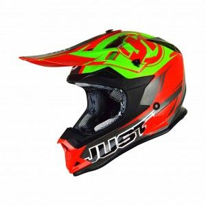 Just1 Crosshelm J32 Pro Rave Red/Lime