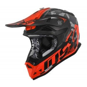 Just1 J32 Pro Crosshelm Camo Orange Fluo