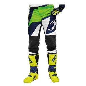 Jopa Crossbroek MX Divergent White/Green/Neon Yellow