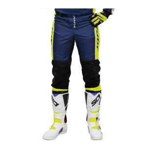 Jopa Kinder Crossbroek Iron Navy/Neon Yellow