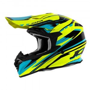 Jopa Crosshelm Hunter Revolt Fluo Yellow/Blue
