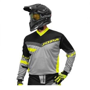 Jopa Crossshirt Devision Grey/Neon Yellow-S