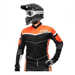 Jopa Kinder Crossshirt Iron Black/Orange
