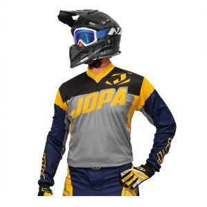 Jopa Kinder Crossshirt Looper Grey/Navy/Yellow