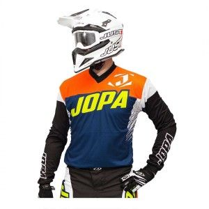 Jopa Kinder Crossshirt Looper Navy/Neon Orange/White