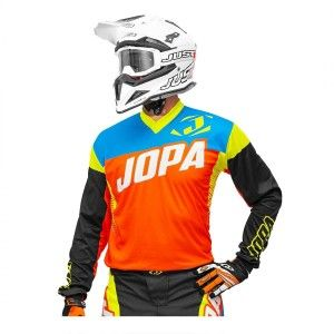 Jopa Kinder Crossshirt Looper Orange/Neon Yellow/Blue