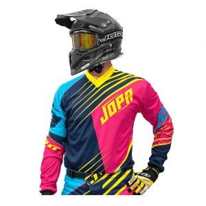 Jopa Kinder Crossshirt Strife Pink/Navy/Yellow