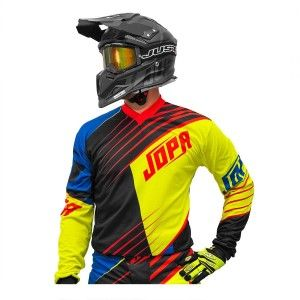 Jopa Crossshirt Strife Neon Yellow/Black/Red