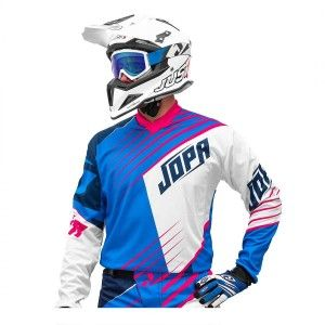 Jopa Kinder Crossshirt Strife White/Blue/Magenta