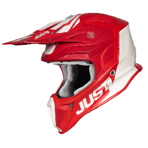 Just1 J18 Pulsar Crosshelm Red/white